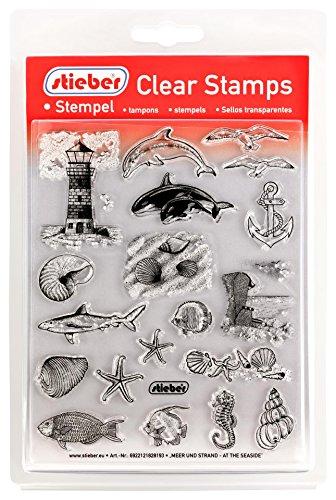 stieber Clear Stamps Transparente Stempel Sets (Bitte gewünschtes Motiv/Thema unten auswählen!) (Meer UND Strand - at The Seaside)