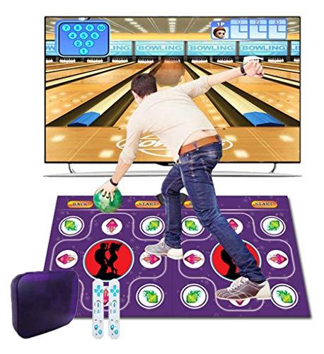 HTD Doppelte Tanzmatte Laufende Decke Tanzmaschine TV-Schnittstelle Yoga-Spielmaschine Silikonmassage Lernmaschine HD-Qualität für Erwachsene und Kinder
