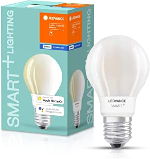 LEDVANCE Smart Led Lamp With Bluetooth, E27, Filament, Dimmable, Warm White (2700 K), Replaces Incandescent Lamps With 100...
