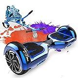 MEGA MOTION Hoverboards con Asiento, Hoverboards Hover Scooter Board, Hoverboards con Silla, Hoverkart para Hoverboards 6.5 Pulgadas, con Altavoz Bluetooth y Luces LED, Regalos para niños