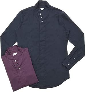 Bagutta(バグッタ)コットンライトフランネルソリッドハイネックシャツ NECK GBL/08480 11092000054
