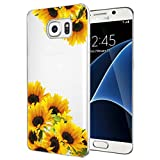 Tothedu Phone Case for Galaxy S7, Samsung S7 Case for Girls Women, Clear Slim Shockproof Pattern Soft Flexible TPU Back Phone Protective Cover Cases for Samsung Galaxy S7 (Sunflower)