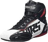 Alpinestars Faster 2Vented Chaussuresde moto en microfibre pour homme Noir/rouge