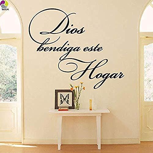 Etiqueta de la pared salón dormitorio español cristiano religioso ca