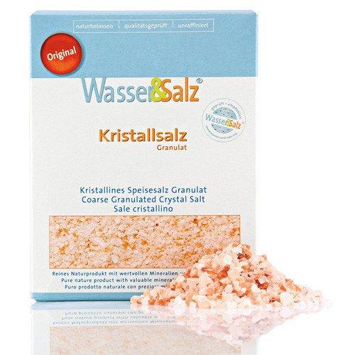Kristallsalz Granulat im 2er Pack Original Wasser & Salz AG aus der 'salt range Pakistan'