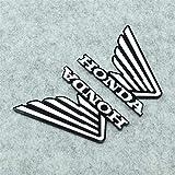Adesivo per serbatoio Metallo motorino moto ala emblema distintivo moto parte sporcizia bici del pozzo decorazioni motocross decalcomania for l'autoadesivo honda logo moto (Color : Black)