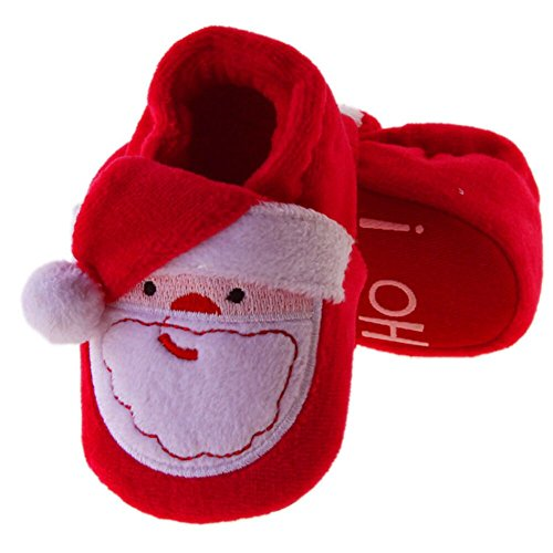 Baby Christmas Boots Slipper Shoes Infant Newborn Booties Toddler Winter Warm Prewalker Boy Girl Red 11