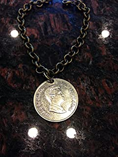 Jordan 5 piastres coin bracelet with lobster clasp