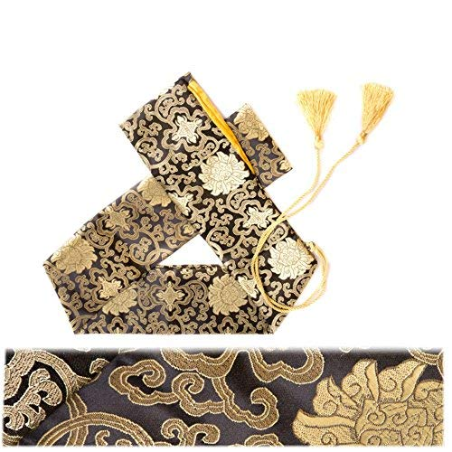 51'seda bolsa de espada Katana Wakizashi Tanto japonés Samurai Espada bolsa de transporte con borla de oro, Lucky Cloud