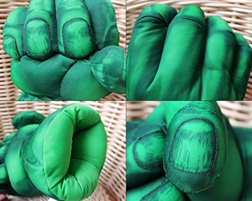 Ace Select Boxing Gloves 1 Pair Fist Gloves 11 inch Soft Plush Gloves for Kids Cosplay Gloves - Green