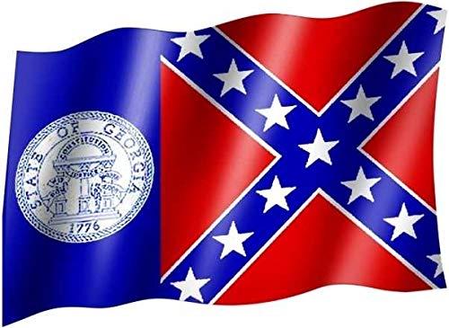 kenai-deko Fahne Flagge Staat Georgia, Flag State of Georgia, Bandera del estado de Georgia, Drapeau de l'état de Géorgie