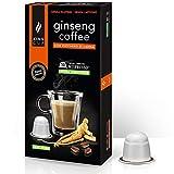 King Cup - 1 Paquete de 10 Cápsulas Compostable de Ginseng con Azúcar de Caña, 10 Cápsulas 100% Compatible con el Sistema Nespresso de Bebida con Sabor de Ginseng, Sin Gluten y Sin Lactosa