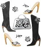 Unbekannt Jolees Ornament-Sticker im Boutique-Design, Funky Footwear