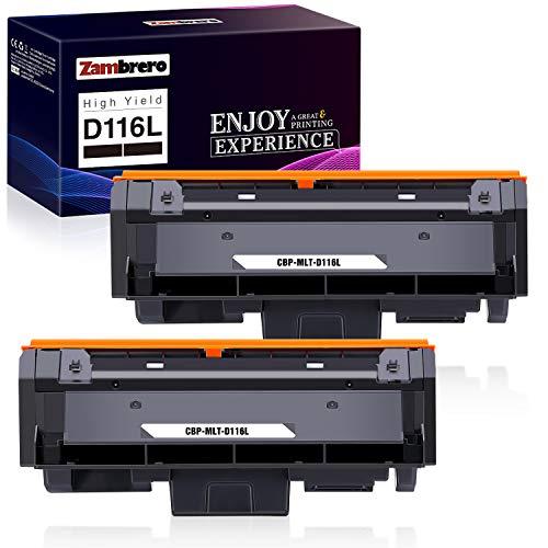 Zambrero D116L Toner Kompatible für Samsung D116L MLT-D116L für Samsung Xpress SL-M2675FN SL-M2675 SL-M2875FD SL-M2835DW SL-M2885FW SL-M2875FW SL-M2825ND SL-M2825DW SL-M2885 SL-M2875 M2625 (2 Schwarz)