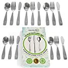 CHILLOUT LIFE 15 Piece Stainless Steel Kids Silverware Set - Child and Toddler Safe Flatware - Kids Utensil Set - Metal Kids Cutlery Set Includes 5 Small Kids Spoons, 5 Forks & 5 Knives