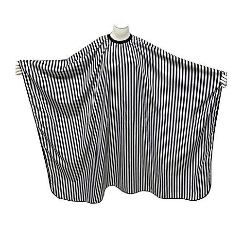 SUNTATOP Capa del Pelo, Pelo del Salón que Corta el Peluquero CAPES del Vestido de la Tela (Lineas blancas y negras)