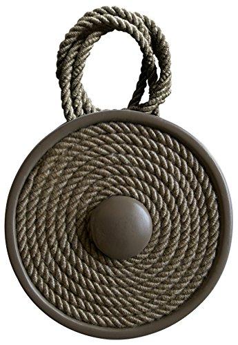 Aroa XXIe Aimant Breton Collier décoratif pour Rideaux Motif Circulaire, Plastique, 42 x 7 x 1 cm 42x7x1 cm Taupe