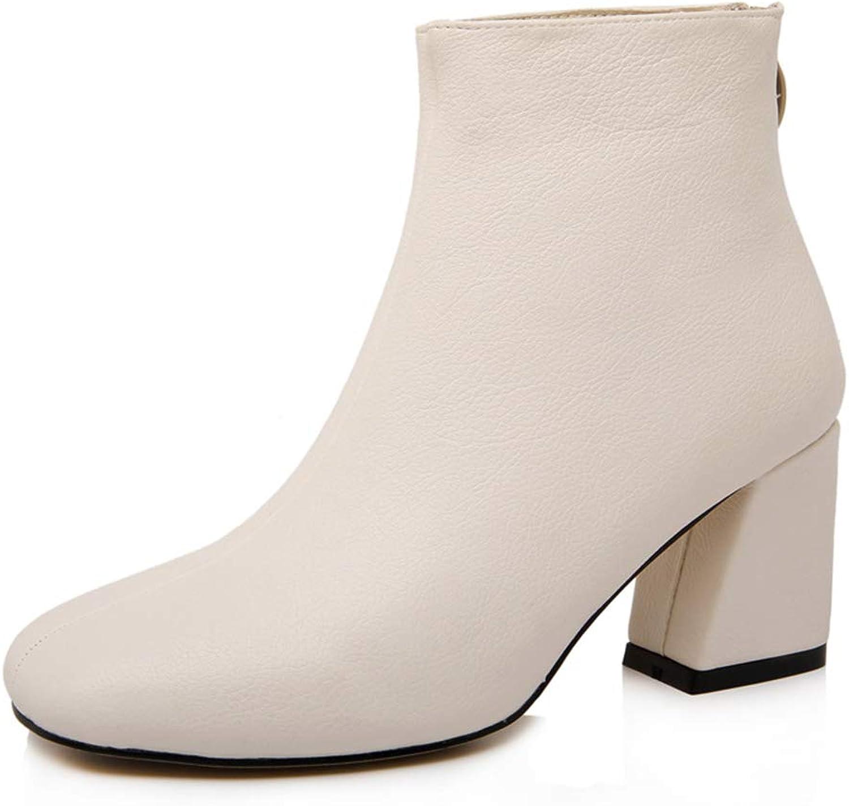 Topcloud Women's Chelsea Ankle Booties High Heels Ankle Boots with Block Heel