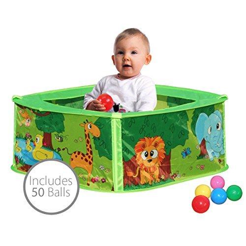 Bentley Kids - Aire de Jeu/Piscine à balles - Motif Animaux - bébé