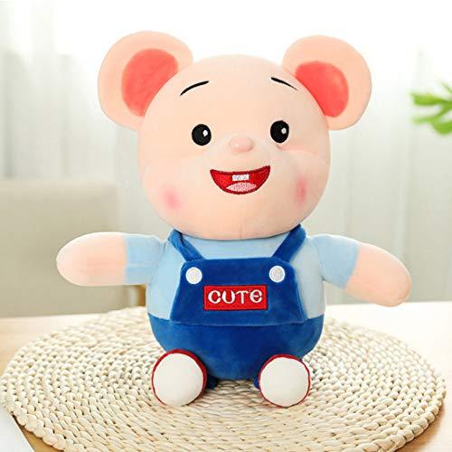 Usar ropa pareja muñecas de rata encantador ratón gordo juguete de felpa suave peluche almohada niños Navidad cumpleaños regalo 40Cm