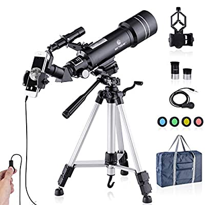 Upgraded Telescope HD 400/70mm Telescope for Kids Adults Refractor Astronomy Telescope - Watching The Moon, Bird Watching, Viewing The Natural Scenery, Viewing The City Scenery, Watching The Animals