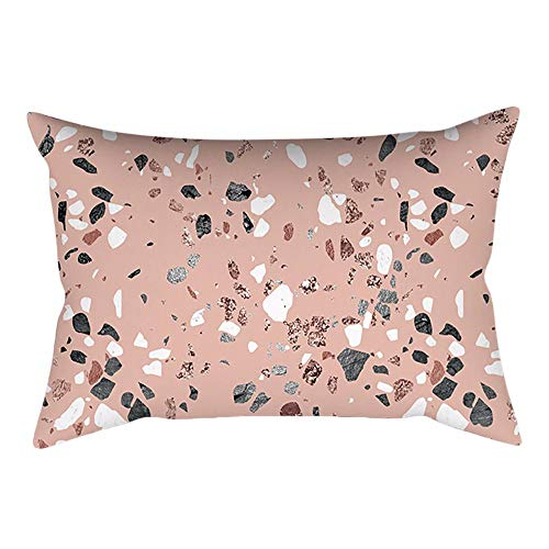 Aiserkly - Funda de cojín Rectangular, 30 x 50 cm, Color Rosa y Dorado, Rose Gold Pink-a, 30cm x 50cm