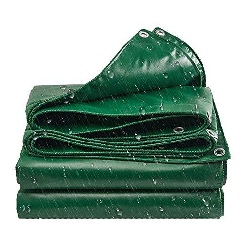 Abdeckplanen wasserdichte Abdeckplane for Dachzelte, Grüne UV- Und Reißfeste Hochleistungsplane Mit Ösen, 440 G/M² (Size : 3×3m)