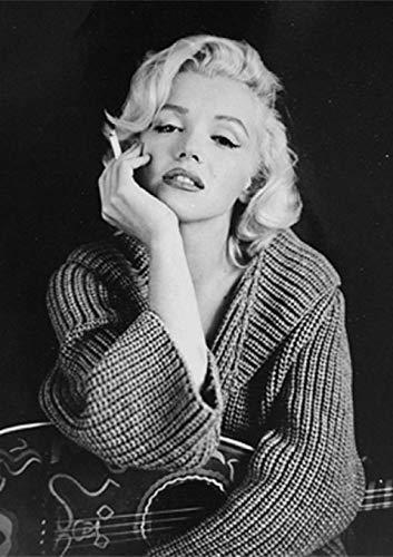 Pintura de Diamantes 5D Marilyn Monroe con Números de Punto de Cruz para Adultos Diamante Bordado Artes y Mosaicos Lienzo Painting Diamond 5D DIY Mosaicos Manualidades Decoración de Pared 30 x 40 cm