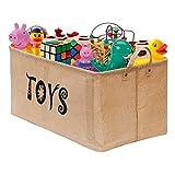 Gimars Contenedor de canasta grande para juguetes Caja de...