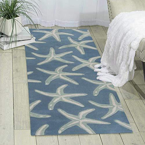 Starfish Coastal Print Area Rug Hallway Runner Rug Living Room Rugs Carpet Entry Rugs Room Bedroom Rug, 70'' X 24''