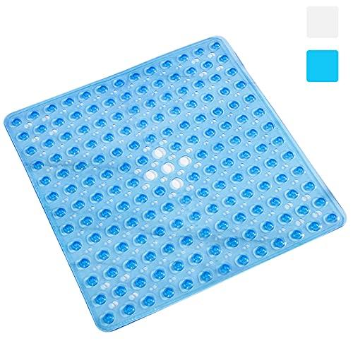 yoyoblue Tappeto Doccia Antiscivolo,Antimuffa Antiscivolo Doccia, con Ventose Antiscivolo per Tappeti, Lavabile in Lavatrice Tappetino Vasca Antiscivolo, 53x53cm (Blue)