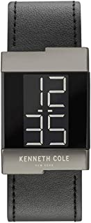 Kenneth Cole Men's Black Dial Leather Band Watch - KCC0168002