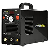 PrimeWeld 50A Air Inverter Plasma Cutter, Portable Plasma Cutting Machine, Premium and Rugged Plasma Cutter Kit, Automatic Dual Voltage 110V/220V AC with Plasma Torch, 1/2' Clean Cut, CUT50D