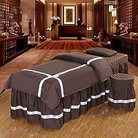 マッサージテーブルシートセット、ピュアカラー、4個、フェイス休憩ホールとベッドカバー - 4セットベッドスカートシート韓国の美しさベッドカバーのマッサージベッドカバー (Color : 7#, Size : 190x70cm(75x27.5inch))
