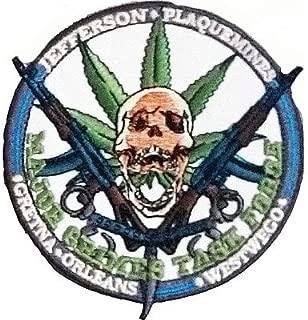 Jefferson DEA plaquemines skull canabis guns handcuffs Iron on Patch Badge