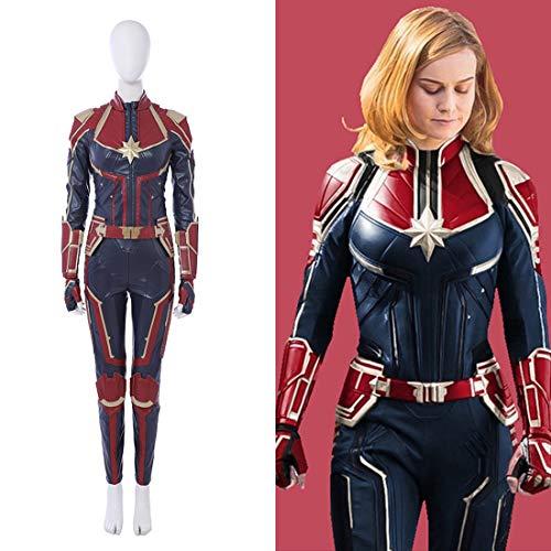Rubyonly Traje Maravilla del Traje Carol Danvers Capitán Capitán Marvel Mono Cosplay...