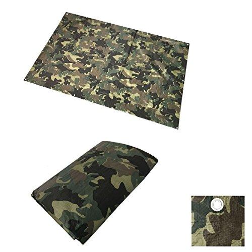 Universal 6m² / 2 x 3m Army Woodland Flecktarn Camouflage Gewebeplane Abdeckplane Bootsplane Wasserdicht