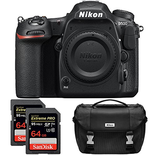 Nikon D500 20.9 MP CMOS DX Format Digital SLR Camera with 4K Video