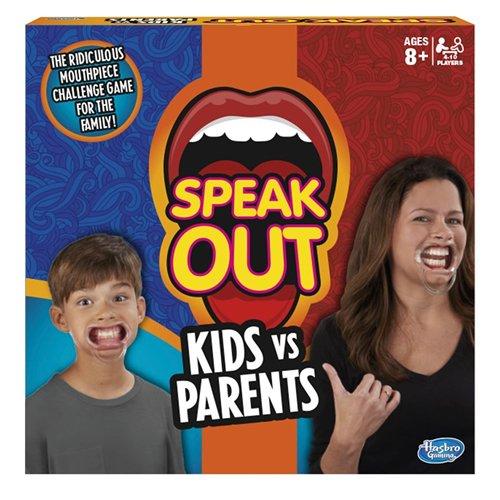 Hasbro – Speak Out Kids vs Parents Game – Mâche-Mots Enfants Contre Parents Version Anglaise (Import UK)