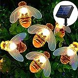 Solar String Lights, 8 Lighting Modes 30 LED Solar Fairy Lights Outdoor Waterproof