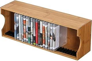 N/Z Muebles para el hogar Estante de Almacenamiento de CD Que Contiene DVD y Discos de Juegos  Torre de Madera Maciza/Sop...