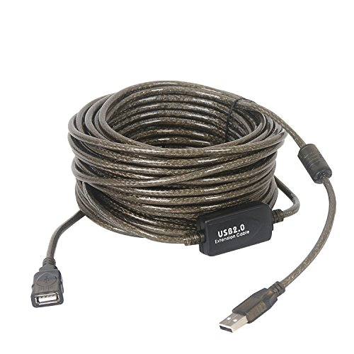 LDKCOK USB 2.0 Type A Male to A Female Active Repeater Extension Cable High Speed 480 Mbps Repeater 50Feet USB 2.0 Extension Cable Cord for Printer, Oculus Rift, HTC Vive, Keyboard, Game Console, US