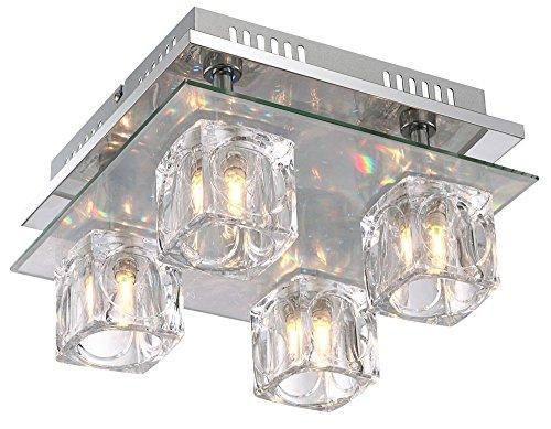 Globo Animus LED-Deckenlampe + Fernbedienung, 4 x G9 + LED, 68429-4