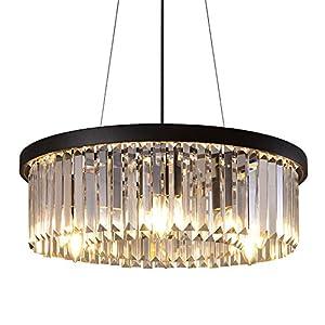 """Wellmet Crystal Chandelier for Foyer Dining Room, 6 Lights Modern Crystal Pendant Light, Vintage Ceiling Lighting Fixture for Kitchen Island, Living Room, Bedroom, Hallway, W-21.65"""""""