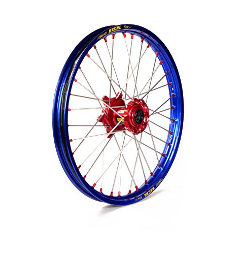 Entretoise roue complète ou la jante 21 à 1,60 Haan Wheels bleu radio-rouge argent rouge écrous de moyeu 1 115019/3/6/1/6