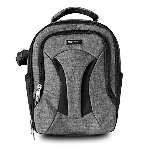 MegaGear Burney SLR, DSLR Kamera und Laptop Rucksack mit Regenschutz - Zubehör Tasche - Grau