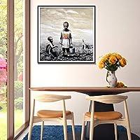 キャンバスウォールアートプリントポスターモダンアート水彩キャンバス絵画装飾写真ホテルバーダイニングエントランスの装飾-40x50cmフレームなし
