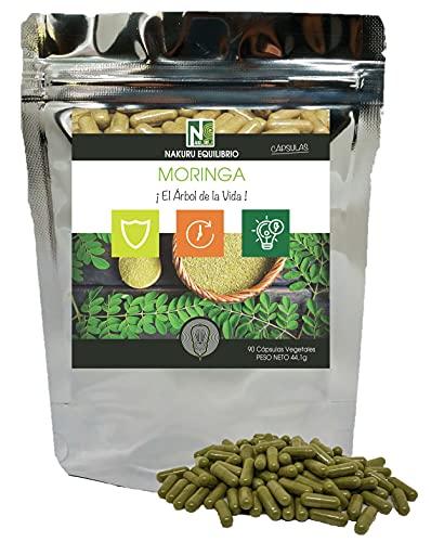 Moringa / 90 cápsulas vegetales de 490mg / NAKURU Balance / Analizado y envasado en Francia / '¡El árbol de la Vida!'
