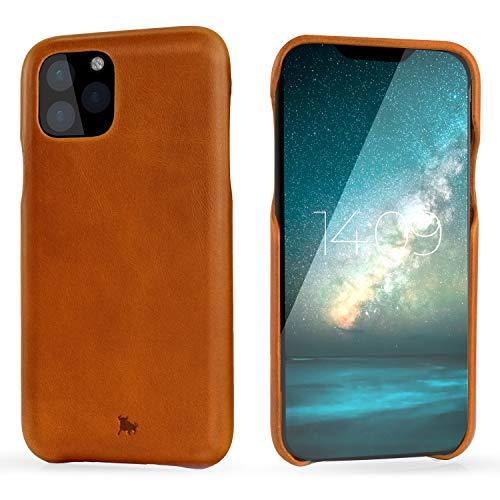 "BULLAZO Menor Classic – kompatibel mit iPhone 11 XI Hülle Schutzhülle Handy Hülle aus hochwertigem Leder Cognac 6,1"""
