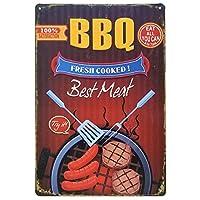 [ファン] Fun! ブリキ看板 BBQ バーベキュー 2 ポスター アウトドア サインボード